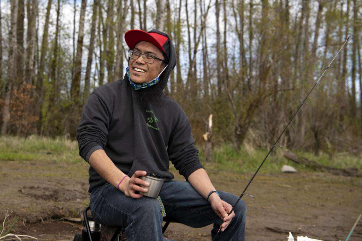 Clark County poet laureate Armin Tolentino used to go fishing on the East Coast with his father. These days he pursues the hobby at Vancouver Lake. He's working on a series of new poems about fishing now, he said.