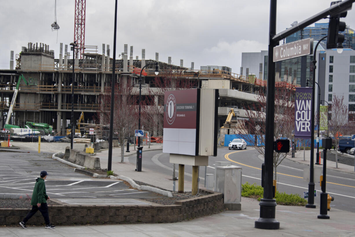 Construction of the AC Hotel by Marriott continues at the Port of Vancouver's Terminal 1 redevelopment site. Earlier this week the port commission signed a 50-year lease with a developer who will build a mixed-use project on the northern two blocks of the site, near the railroad berm.