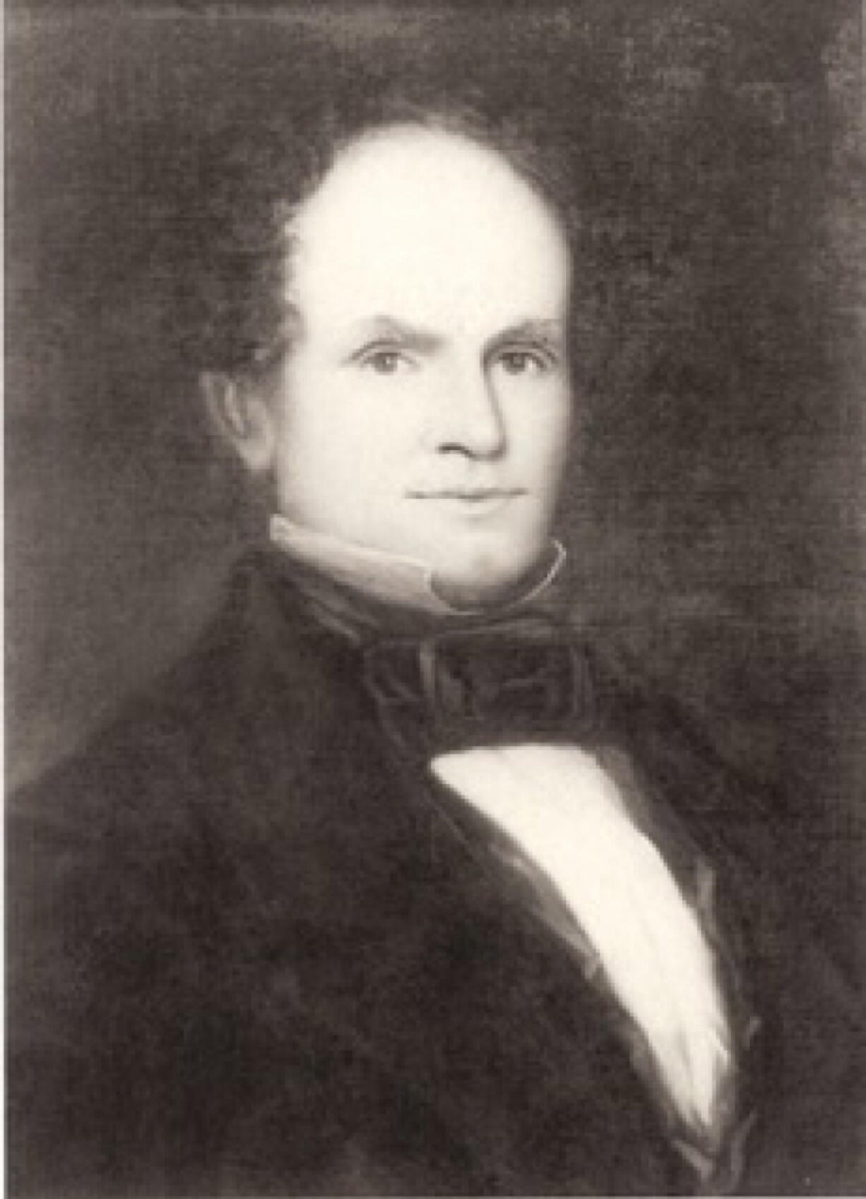 This painting of Columbia Lancaster hangs in the Washington State History Museum in Tacoma. His friends called him Judge because he sat on the Oregon Territorial Provisional Government Court before the Washington Territory was formed in 1853. Later he became the first district judge in the Washington Territory and its first delegate to Congress.