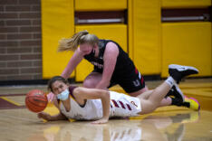 Union girls basketball scrapes by Prairie sports photo gallery