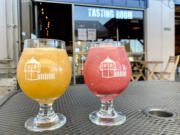 Fortside Brewing Co. recently added a slushie machine to its taproom. Island Dreamin', left, and Rose Gone Wild are the icy brews currently on offer; Pink Lemonade beer is expected to join the lineup soon.