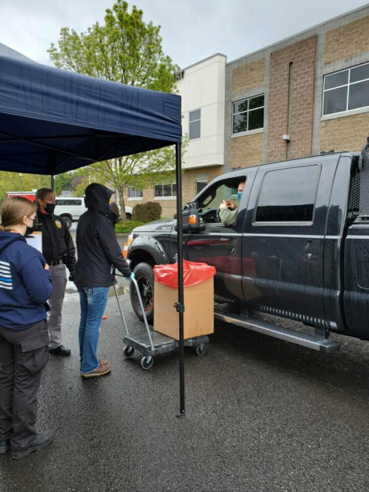 CLARK COUNTY: Several organizations and agencies helped organize a drug take-back event at seven sites throughout Southwest Washington, including the Battle Ground Police Department's volunteer team.