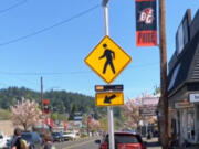 BATTLE GROUND: A new pedestrian signal was installed on East Main Street between Northeast Clark and Fourth avenues.