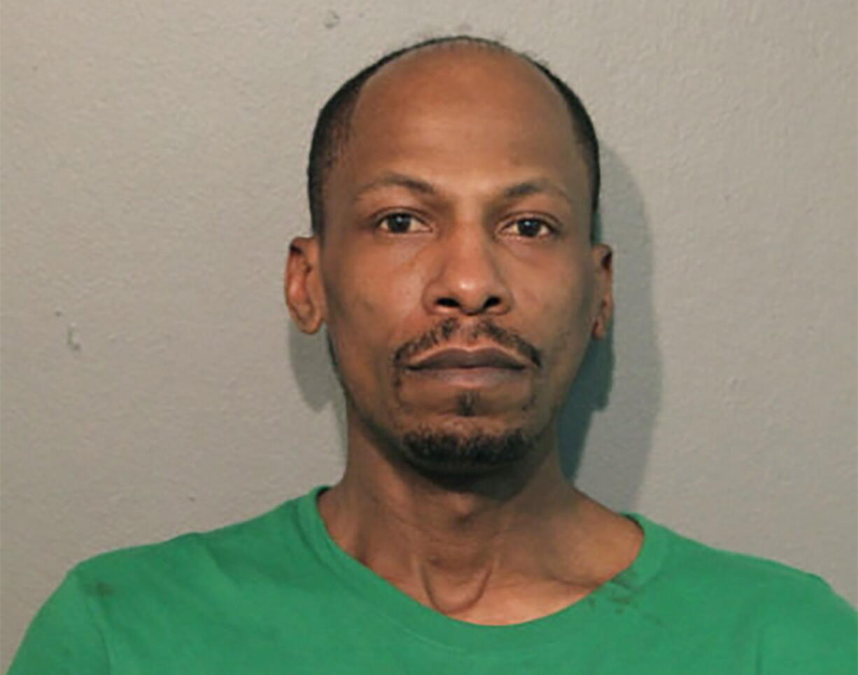 This April 2021 booking photo released by the Chicago Police Department shows Jushawn Brown. Police say Brown has been charged with unlawful use of a firearm by a felon in connection with a shooting Tuesday, April 6, 2021, that wounded a 21-month-old boy who was riding in a car with him on Chicago's famed Lake Shore Drive.