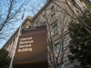 The Internal Revenue Service Headquarters is seen in Washington, D.C. More than 50 of the largest U.S. companies paid nothing in federal income taxes last year, even though they reported big pretax profits as a group. (J.
