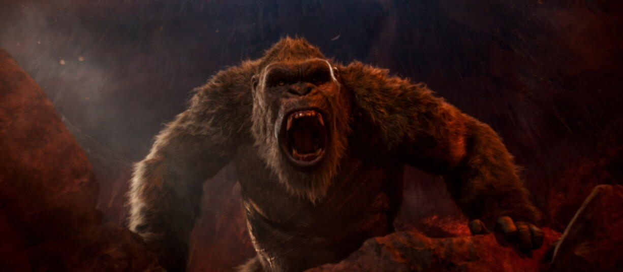 "This image released by Warner Bros. Entertainment shows a scene from ""Godzilla vs. Kong."" (Warner Bros."