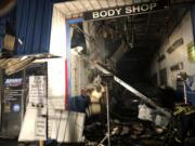 A two-alarm fire at Maaco, 2735 N.E. Andresen Road, did heavy damage to the building on Wednesday night.