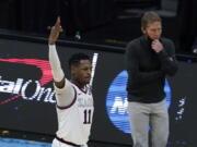 Gonzaga guard Joel Ayayi (11) declared for the NBA Draft on Friday, April 9, 2021.