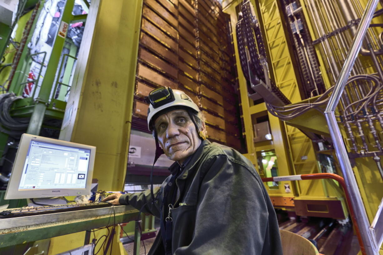 Nikolai Bondar works on the LHCb Muon system at the European Organization for Nuclear Research Large Hadron Collider facility outside of Geneva in 2018.