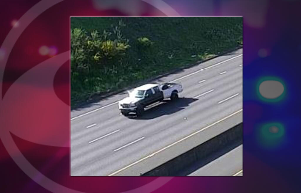 """At bout 9:20 a.m. on Wednesday, a WSP motorcycle unit was stationed on the northbound shoulder of I5 near milepost 3. The trooper spotted a white, lifted Ford F-250 with black body panels going 78 mph. The driver of the truck """"intentionally swerved towards the trooper, stationary on the shoulder,"""" according to a news release from WSP."""