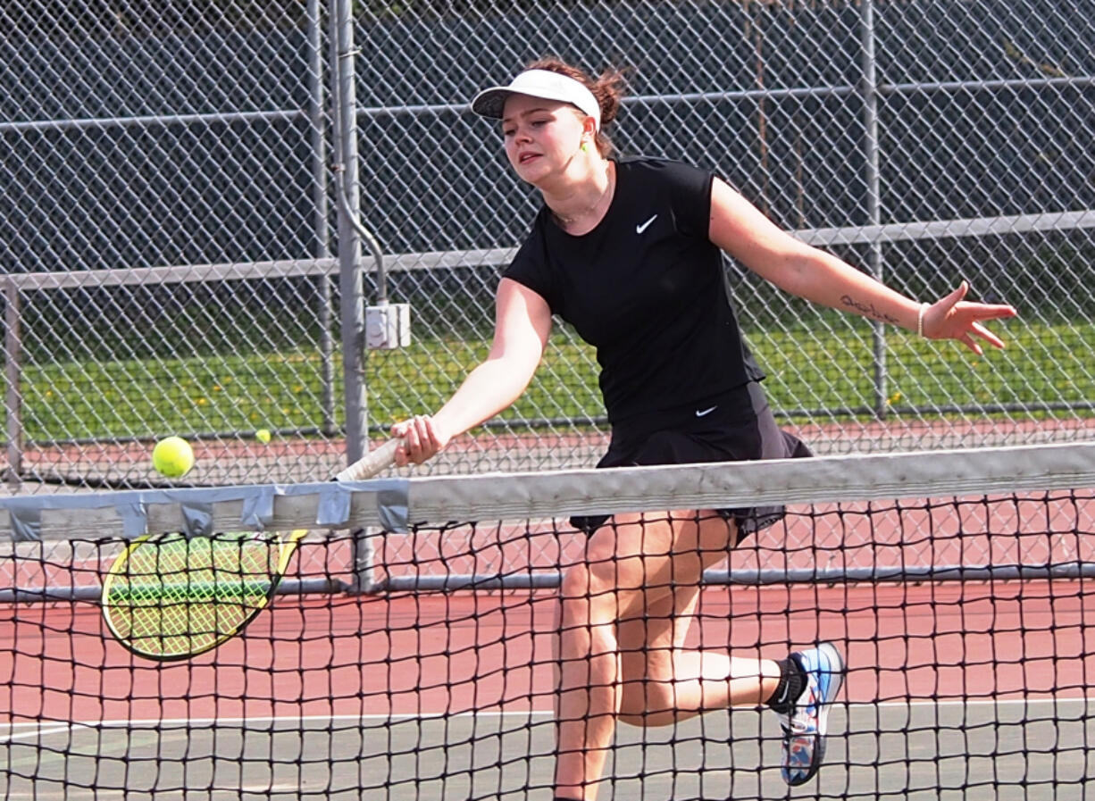 Prairie High senior Emma Tuttle is the Falcons' No. 1 singles player. She has high hopes for a spring season that is just getting started.