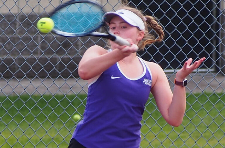 Columbia River senior Piper Rylander was undefeated as the Rapids'i No. 1 singles player this season.