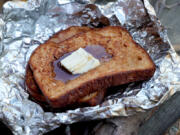 Campfire French Toast, made on the grill (Hillary Levin/St.