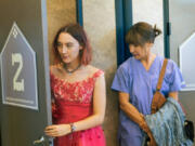 """Saoirse Ronan, left, and Laurie Metcalf in """"Lady Bird."""" (A24 Films)"""