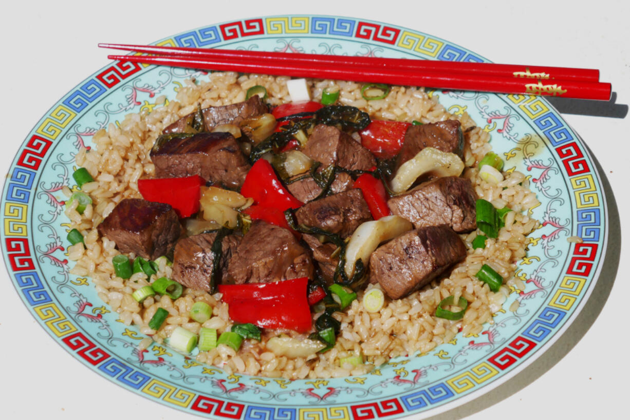 Sweet and sour beef.