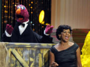 Actress Sonia Manzano, right, performs at the 2009 Daytime Emmy Awards in Los Angeles.