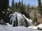 Chush Falls is located along Whychus Creek in the Three Sisters Wilderness, just south of Sisters, Ore.