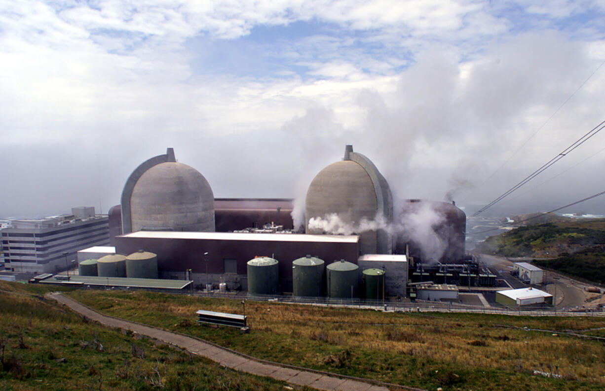 Steam is released from reactor No. 1 at Diablo Canyon Power Plant at Avila Beach, Calif., in a May 2000 file image.