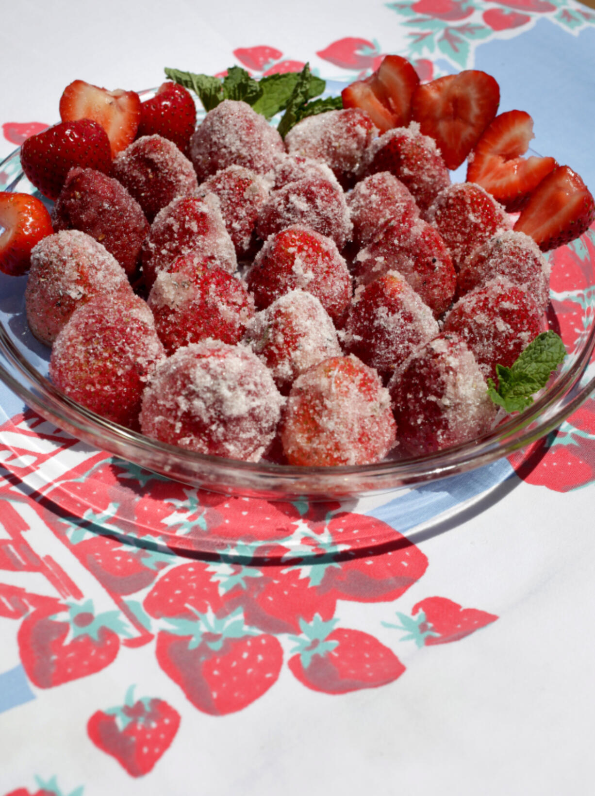 Strawberries Dusted With Cardamom Sugar. (Photos by Hillary Levin/St.