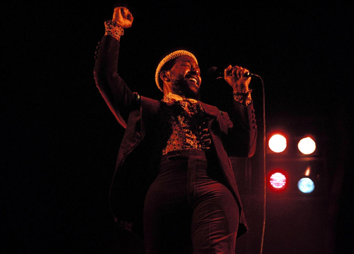 Marvin Gaye performs in 1974.