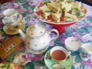 """""""What makes teatime special is the friendship and the family and conversation,"""" said Cyrilla Gleason, certified tea etiquette consultant."""