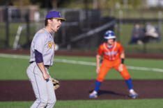 Columbia River tops Ridgefield 4-2 in 2A district baseball sports photo gallery