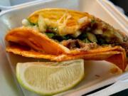 Birria taco from Su Casa Marquez.
