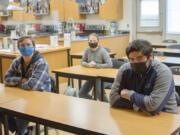 WOODLAND: Woodland High School's 2020-2021 SkillsUSA Team included Caleb Mouat, senior; Caitlin Nelson, sophomore; and Oliver Rosas, senior.