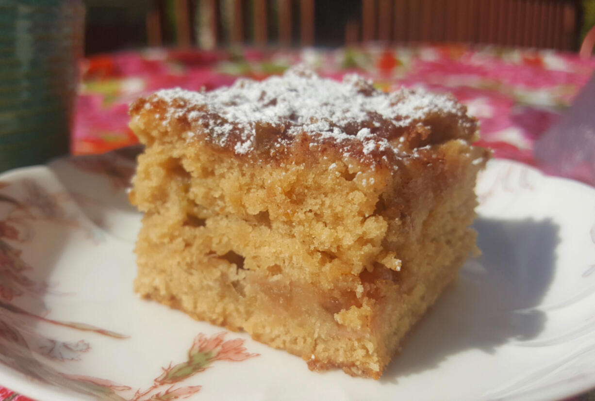 These rhubarb delights feature fresh rhubarb with an unusual rhubarb streusel topping.