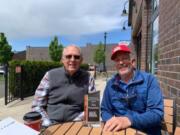 CLARK COUNTY: Joe Pauletto, left, received the Walk & Knock Bud Pasmore Volunteer Achievement Award from organization President Tom Knappenberger.