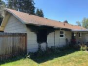 Fire damaged a home in the 9300 block of Northeast 11th Street in Vancouver on Tuesday, displacing one person.