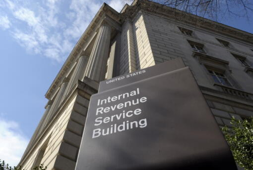 FILE - In this photo March 22, 2013 file photo, the exterior of the Internal Revenue Service (IRS) building in Washington. Lawmakers are increasingly looking at boosting the IRS to help pay for infrastructure improvements.