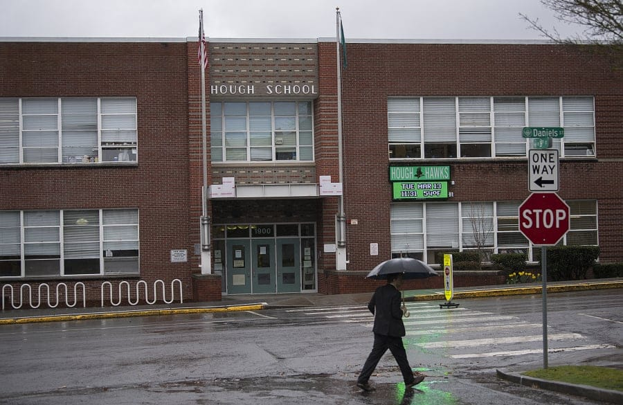 Vancouver Public Schools was dinged in an 2019-2020 audit for the contractor chosen for work at Hough Elementary School in West Vancouver.
