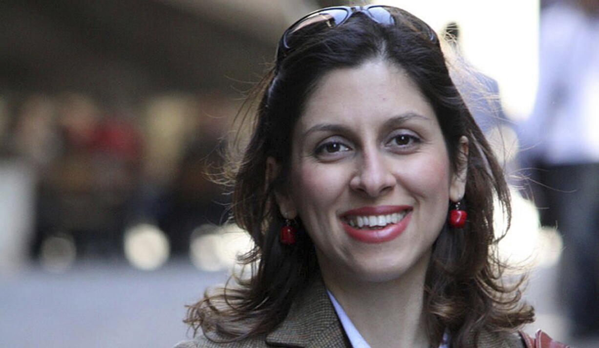 FILE - This undated file family photo, shows British-Iranian woman Nazanin Zaghari-Ratcliffe. On Sunday, May 2, 2021, Iranian state TV quoted an anonymous official that deals have been reached to release prisoners with Western ties held in Iran. The official said a deal made between the U.S. and Tehran will see a prisoner swap in exchange for the release of $7 billion in frozen Iranian funds. State TV also quoted the official saying a deal had been reached for the United Kingdom to pay 400 million pounds to see the release of Zaghari-Ratcliffe.