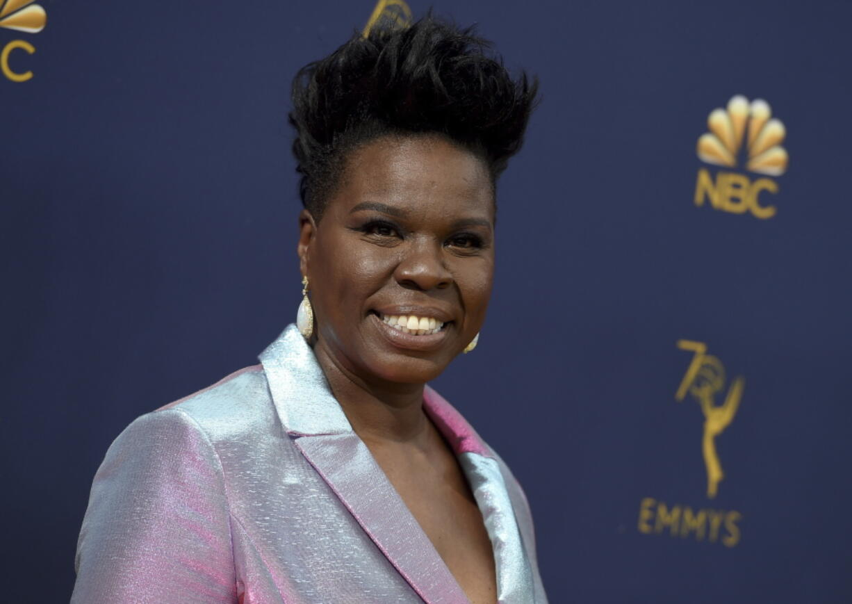 """FILE - This Sept. 17, 2018 file photo shows Leslie Jones at the 70th Primetime Emmy Awards in Los Angeles. Jones will host the 2021 '""""A'uMTV Movie & TV Awards."""