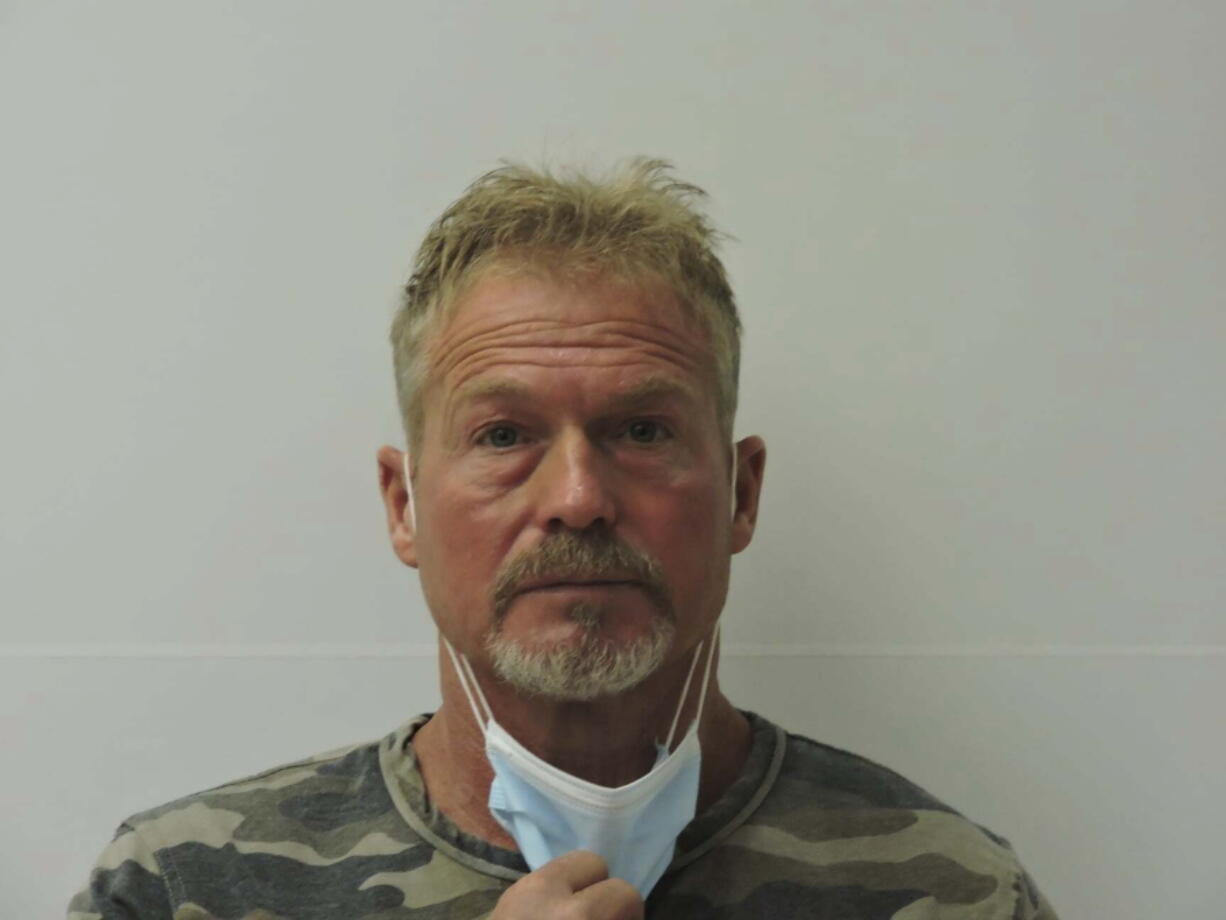 This photo provided by Chaffee County Sheriff's Office shows Barry Morphew.  Morphew was arrested in connection with the disappearance of his wife, Suzanne Morphew, as the result of an ongoing investigation that has so far involved over 135 searches across Colorado and the interviews of over 400 people in multiple states, Chaffee County Sheriff John Spezze said, Wednesday, May 5, 2021.