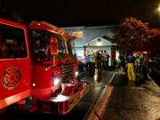 Vancouver firefighters respond to a blaze at Oak Creek Apartments on 49th Street in east Vancouver early Thursday morning.