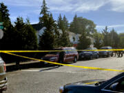 Vancouver police investigate a shooting in the Uptown Village area on Memorial Day.