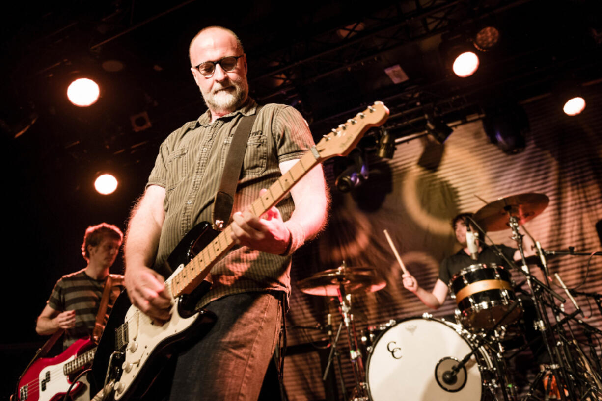Former Husker Du and Sugar frontman Bob Mould performs in the Tolhuistuin venue in November 2014 in Amsterdam, Netherlands.