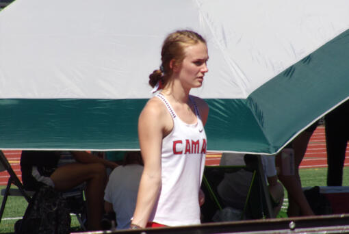 Camas High pole vaulter Shea McGee will head to the University of Montana on a scholarship to compete in track and field for the Grizzlies. (Tim Martinez/The Columbian)