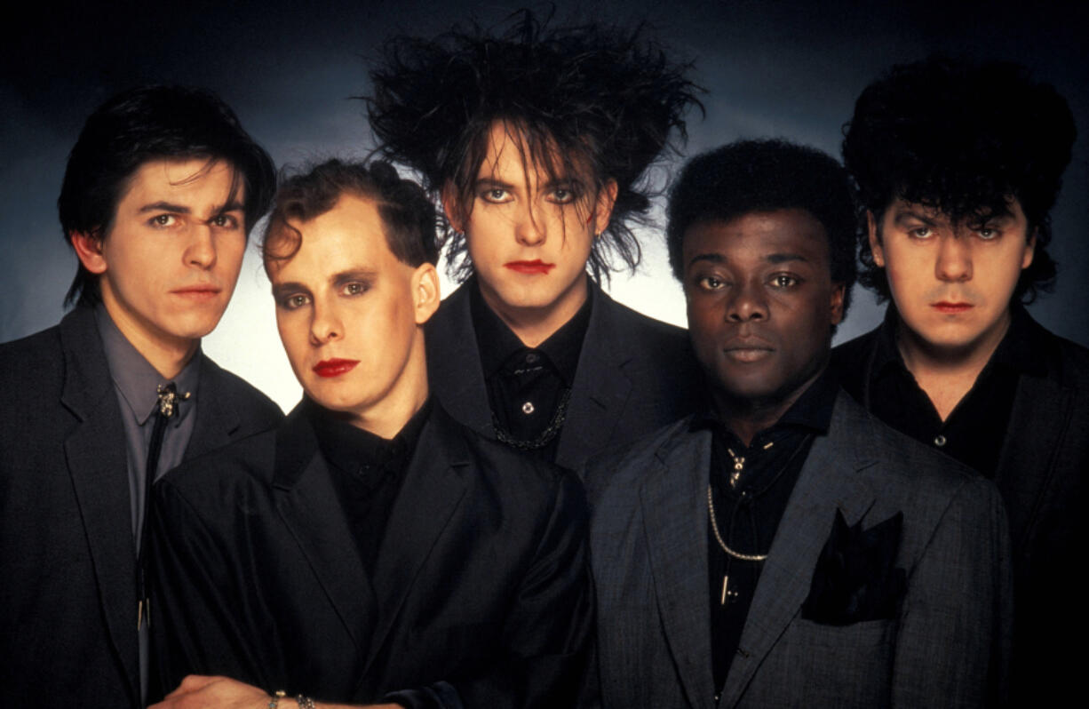 The Cure circa 1984, from left, Phil Thornalley, Porl Thompson, Robert Smith, Andy Anderson, Lol Tolhurst.