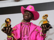 Lil Nas X backstage at the 62nd Grammy Awards at Staples Center in Los Angeles on Jan. 26, 2020. (Myung J.