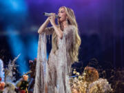 Jennifer Lopez performs at the Vax Live concert at SoFi Stadium on Sunday, May 2, 2021, in Inglewood, California.