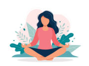 You don't need to sit cross-legged to meditate. Just find a comfortable position where you can be relaxed yet alert.