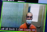 George Paul Guillaume, 47, makes a first appearance Monday in Clark County Superior Court on suspicion of attempted second-degree murder. He is accused of striking a man with a machete following an argument Friday morning outside of a Vancouver bar.