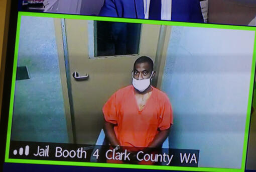 Vencine Hadley, 47, appears Monday in Clark County Superior Court for a review hearing to add a charge of attempted first-degree assault. Hadley was shot by law enforcement officers June 3 after a high-speed chase on southbound Interstate 5 from Kelso to the La Center exit.