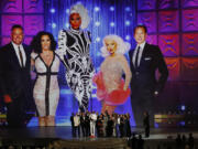 """""""RuPaul's Drag Race"""" wins Outstanding Reality-Competition Program during the 70th Primetime Emmy Awards at the Microsoft Theater in Los Angeles on Monday, Sept. 17, 2018."""