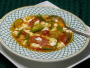 Summer vegetable soup.
