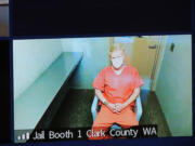 Joshua Anthony Ryan, 29, appears Tuesday via Zoom in Clark County Superior Court on suspicion of first-degree assault in a Sunday morning stabbing in Vancouver's Harney Heights neighborhood. Police described the stabbing as a random attack.