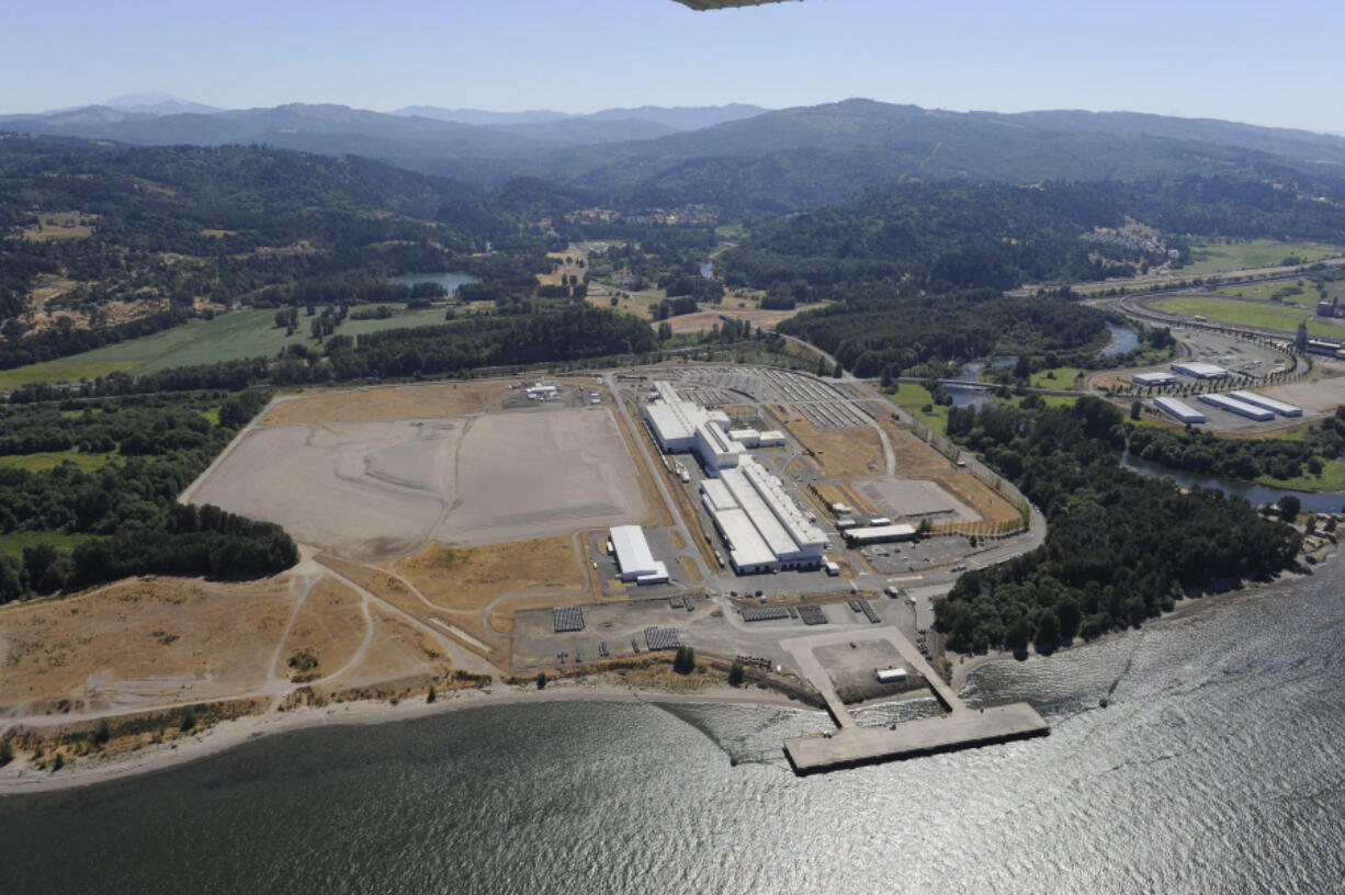 The 90-acre site at the Port of Kalama where Northwest Innovation Works had proposed building a $2.3 billion methanol plant. Proponents said methanol produced would have been used in plastics manufacturing in China.